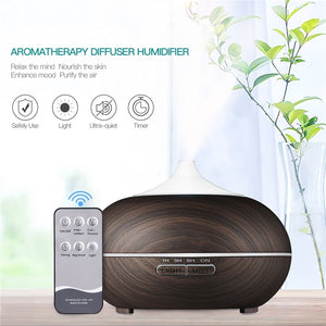 500ml Wood Grain Aroma Essential Oil Diffuser
