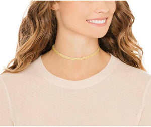 Made with Swarovski Crystal Choker Necklace - White