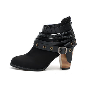 Mandy Buckle Strap Boots