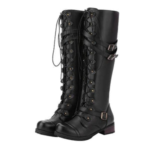 Darcey Lace-up Punk Boots