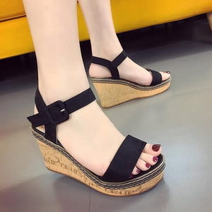 Kensley Peep Toe Wedges