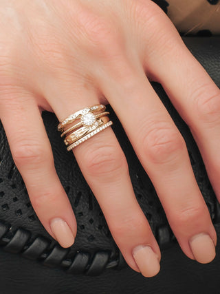 Set Of Four Dainty Stacker Rings
