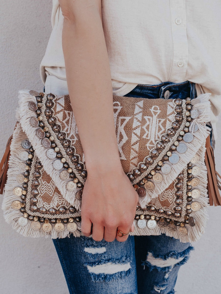 Boho Chic Cross-Body Clutch