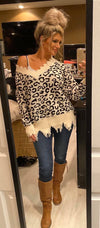 Leopard Distressed Sweater