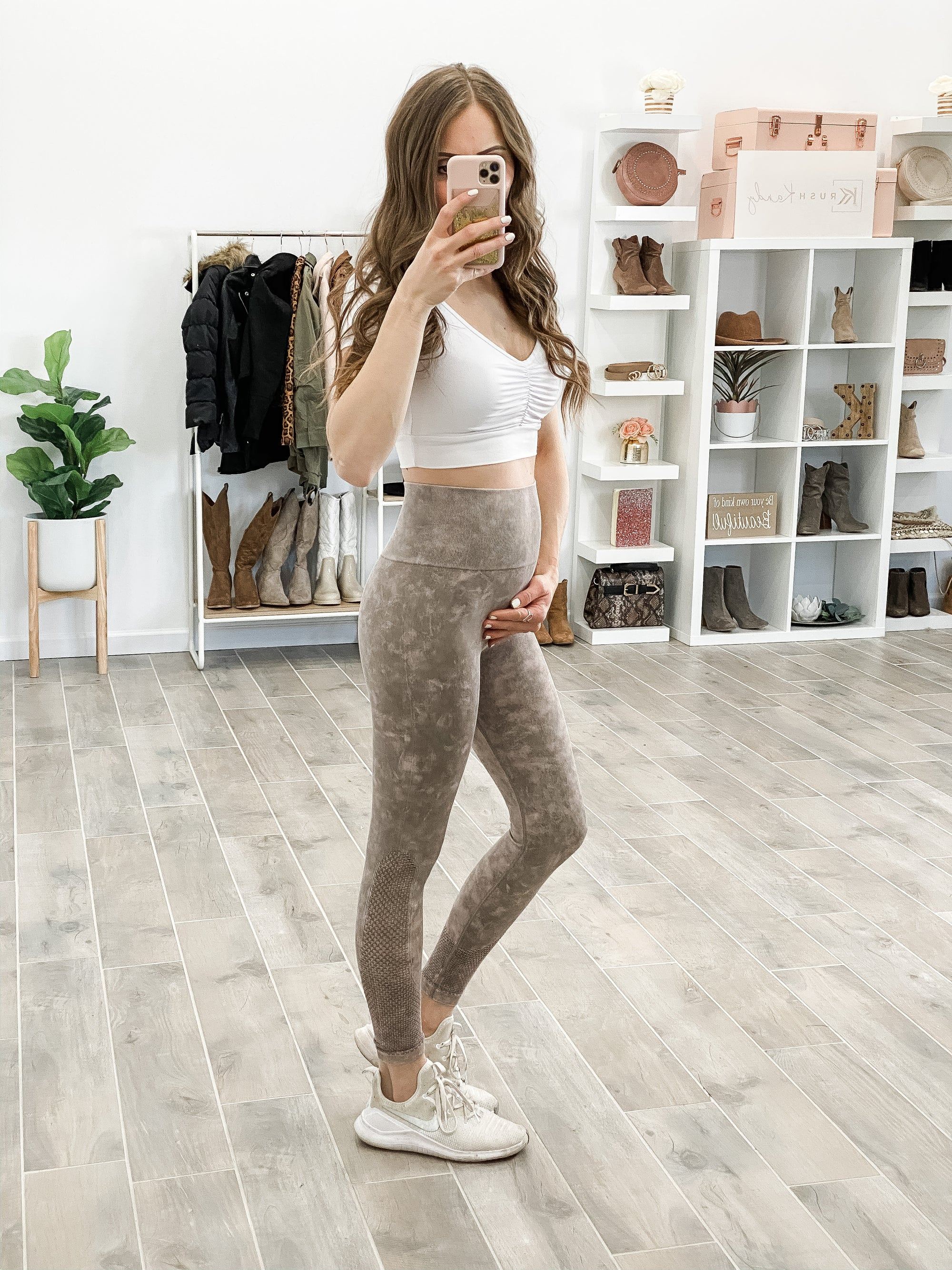 (2 colors) Seamless Mineral Wash Leggings