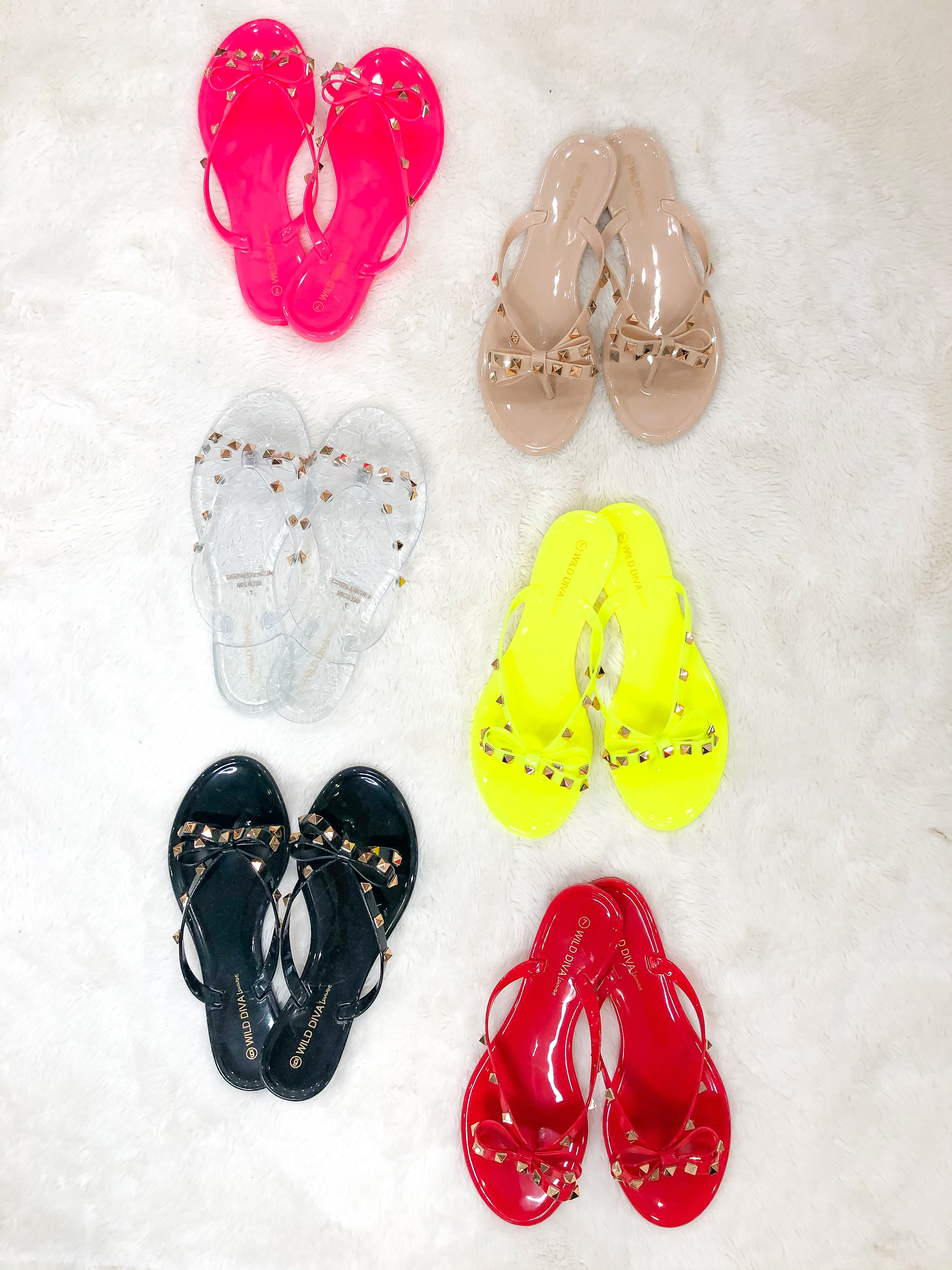 (size 5 & 6 left!) 9 COLORS! Are You Jelly Sandal