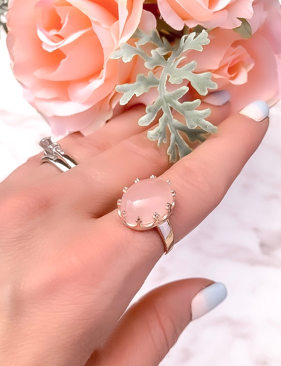 Rose Gold Quartz Ring