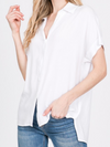 Linen Dolman Button Down Blouse