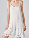 Scalloped Lace Slip Dress