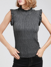 POL Chic Ruffled Smocking Top
