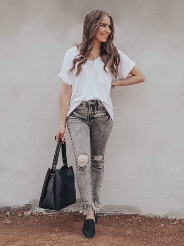The Oh So Soft Grey Wash Skinny Jeans