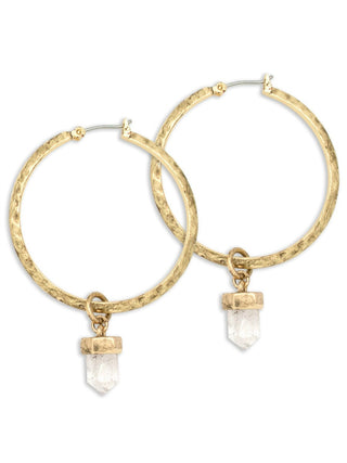 Crystal Hoop Earrings