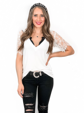 POL Lovely Lace Top
