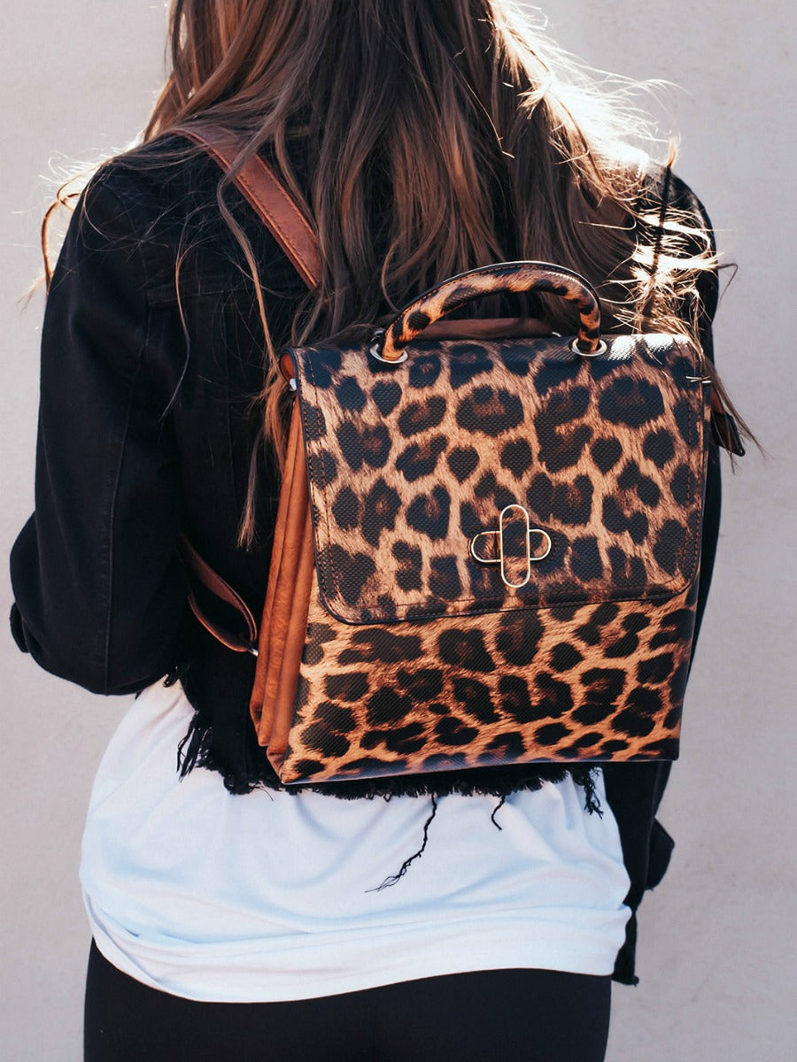 3 in 1 Leopard Backpack
