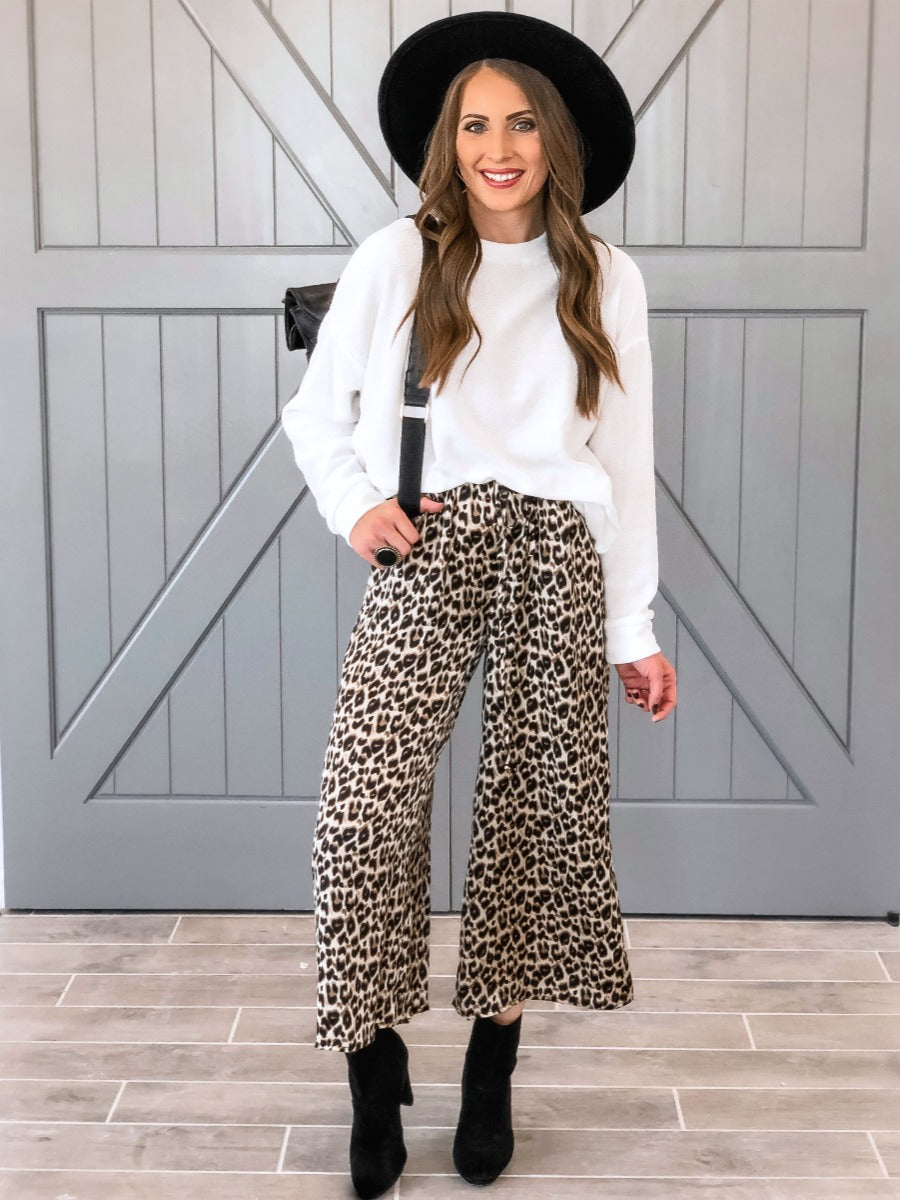Up The Game Animal Print Pants