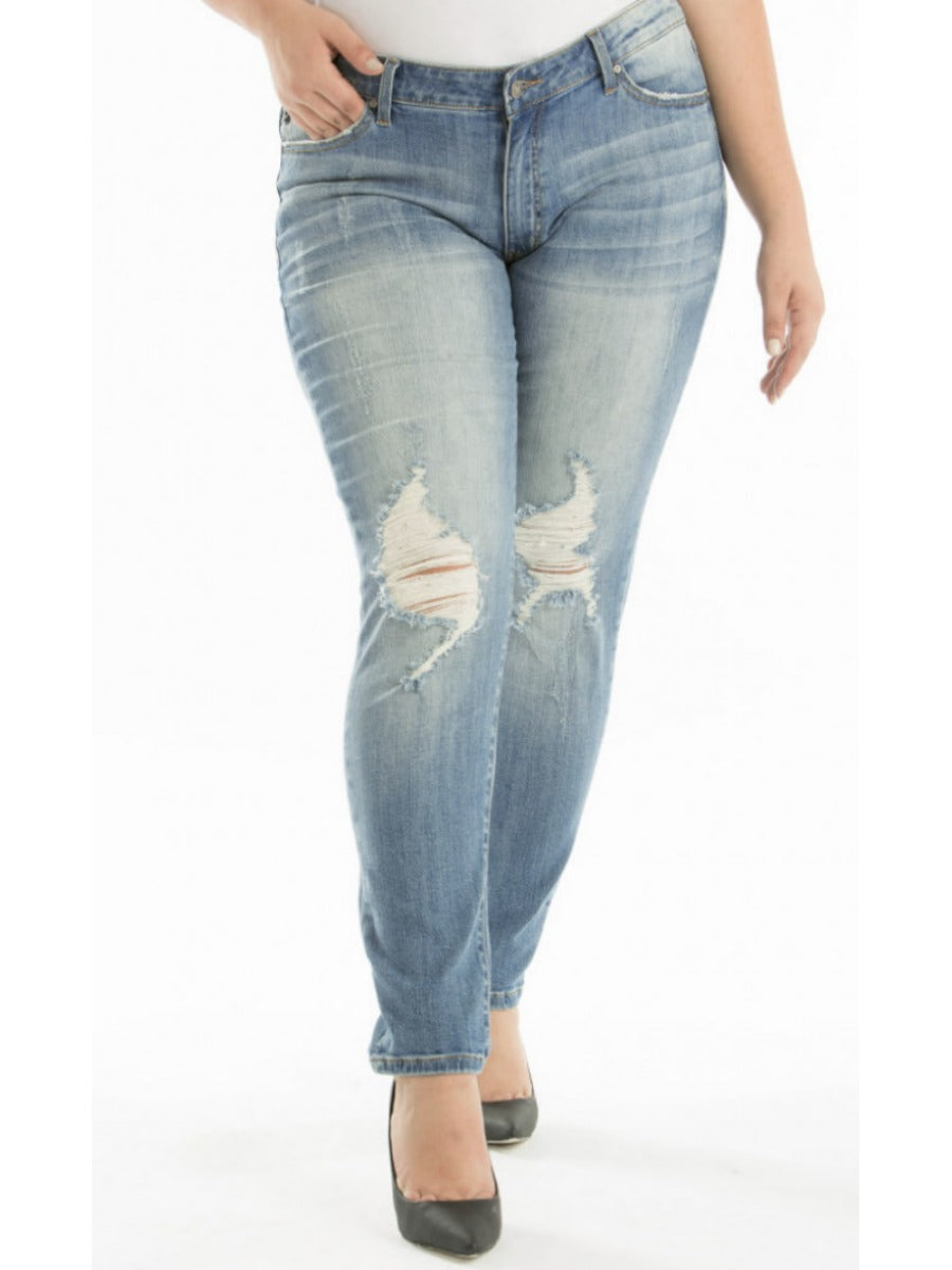 (0-3X) KanCan Distressed Jeans