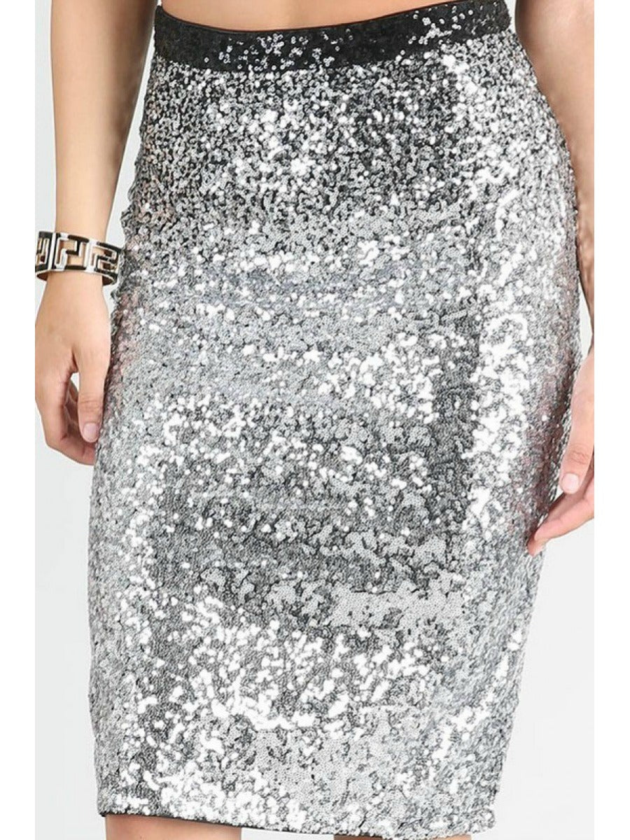 Sequin Ombre Skirt