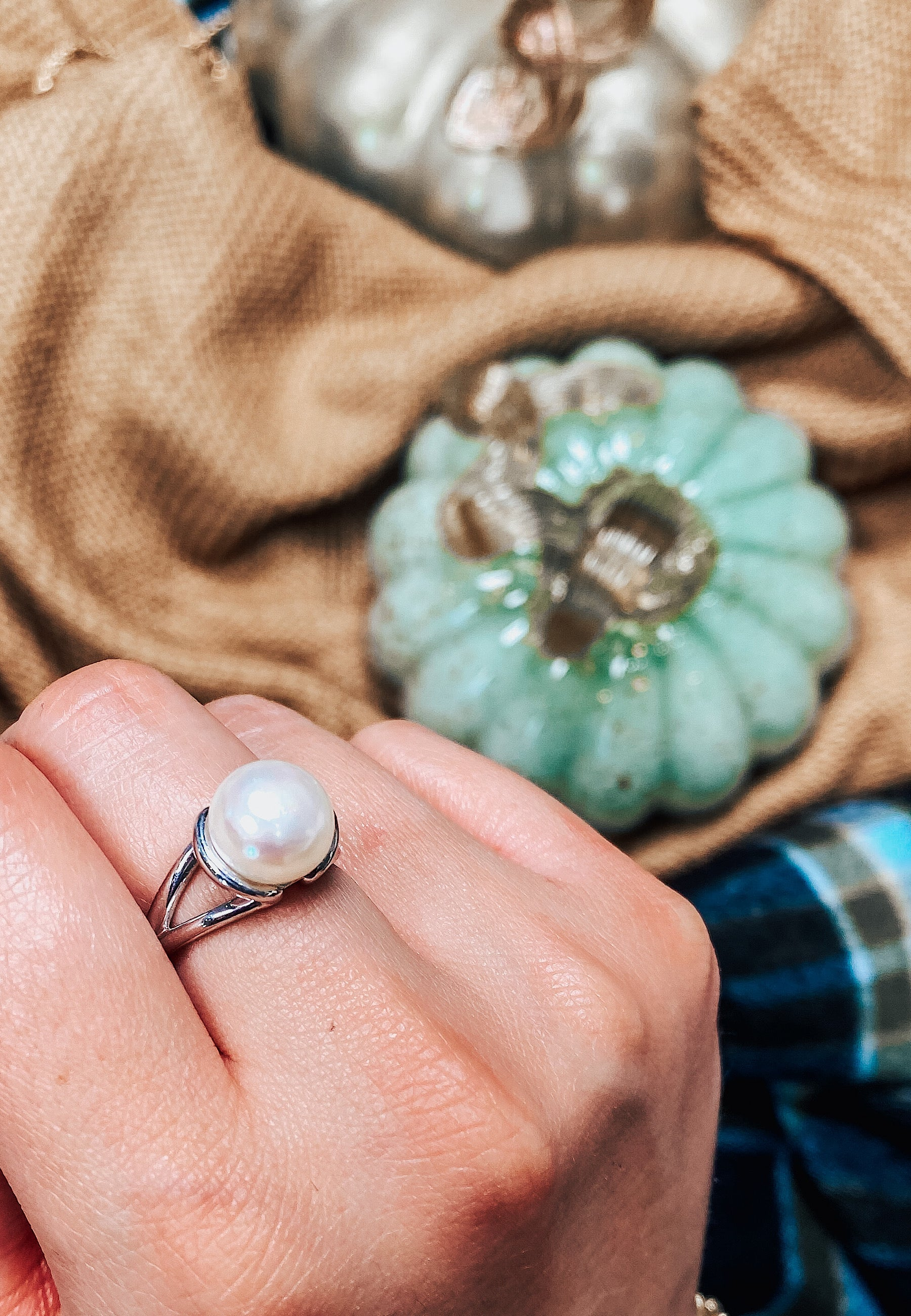 Persevere Pearl Ring