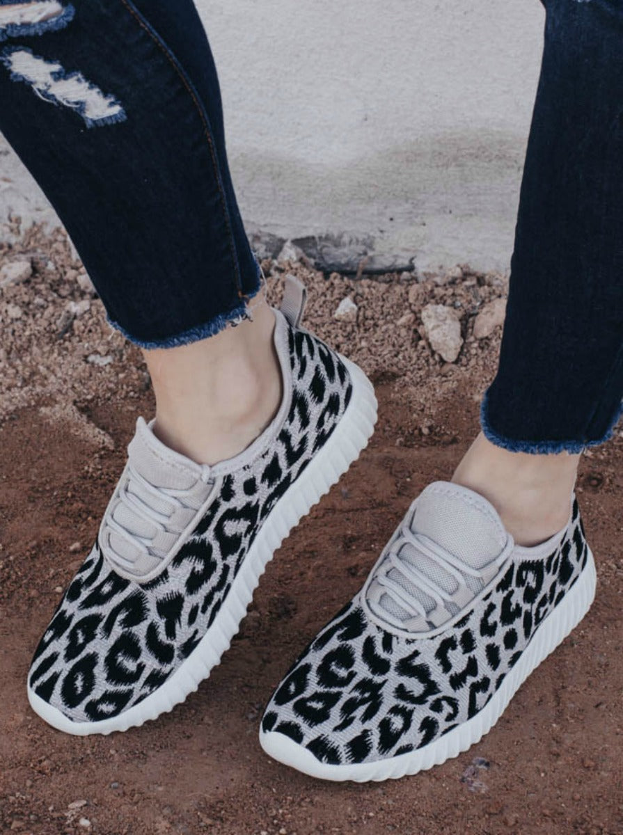 Wild and Free Glitter Cheetah Casual Shoe