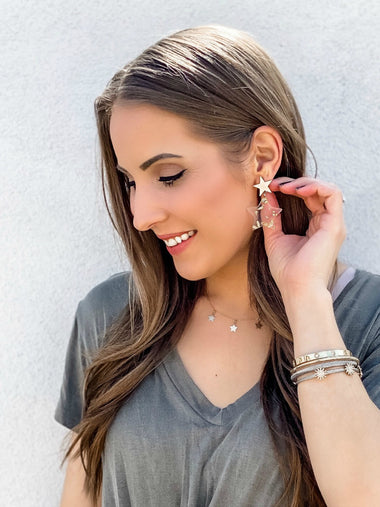 Sprinkled With Gold Star Earrings