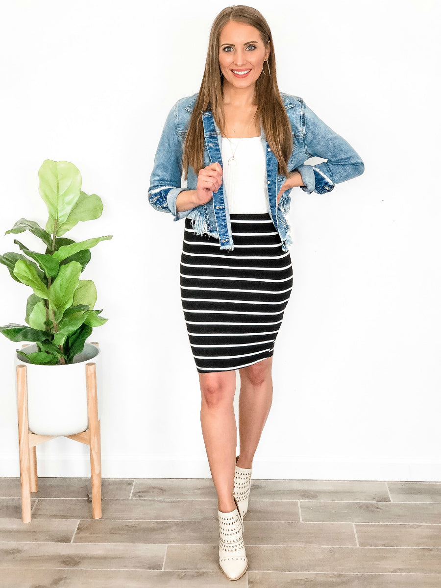 Simply Striped Skirt