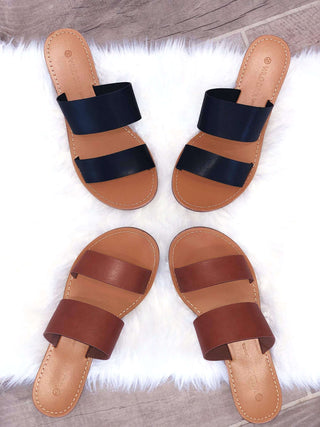 $12.99 SALE Summer Vibes Double Strap Sandal
