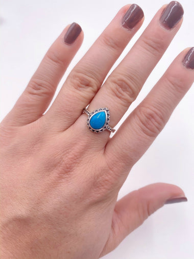 Tear Drop Turquoise Ring