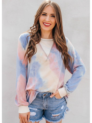 Tie dyed soft french terry top