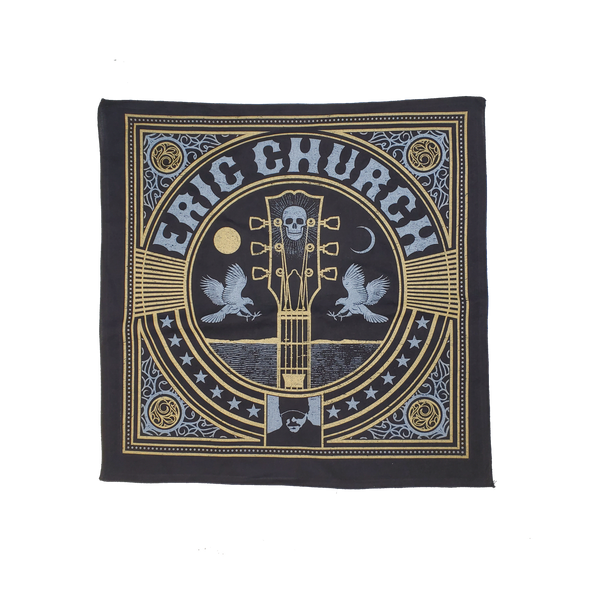 Eric Church Black & Gold Bandana