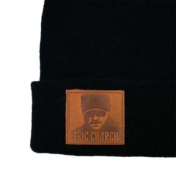 Chief Leather Patch Beanie