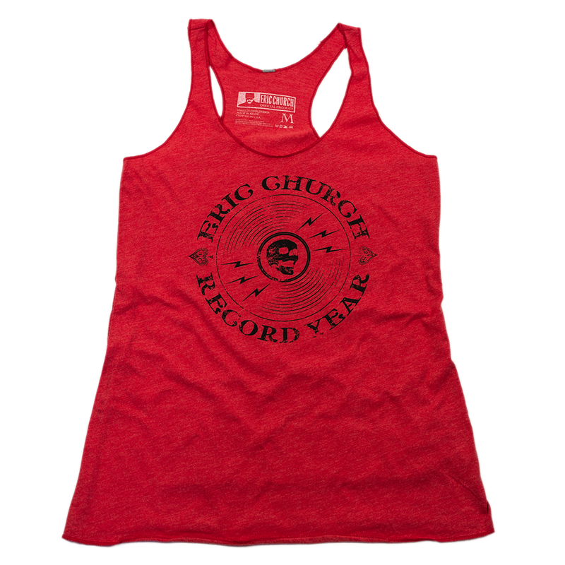 Ladies Record Year Tank - Vintage Red