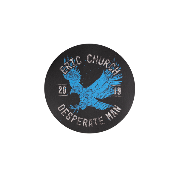 Blue Eagle Circle Sticker