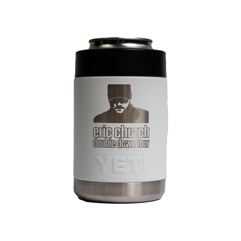 Double Down Tour YETI Koozie - White