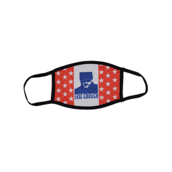 Chief Face Mask - Red, White & Blue