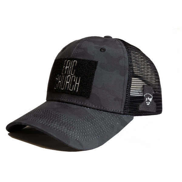Black Camo Velrco Patch Hat