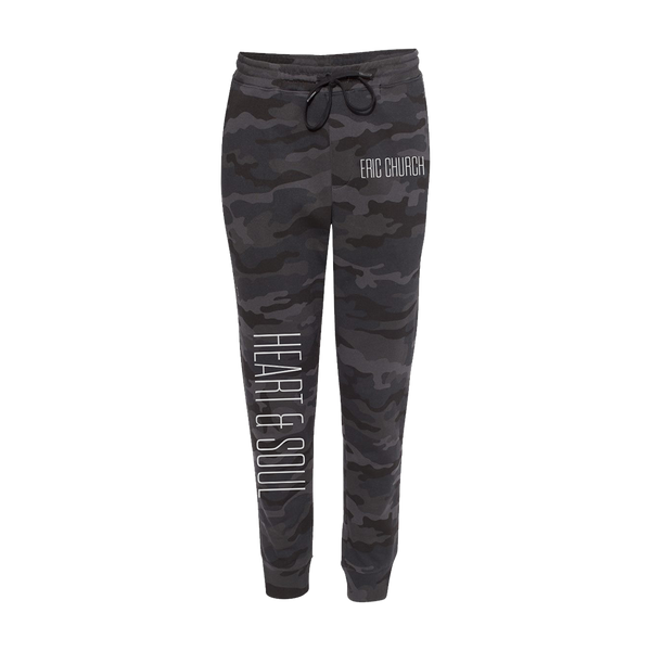 Heart & Soul Black Camo Sweatpants