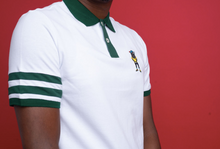 Load image into Gallery viewer, The Fly Hippo 'Ace' White Polo Shirt