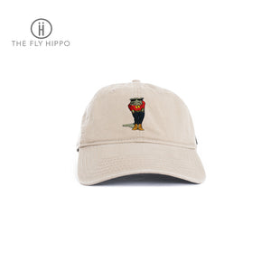The Fly Hippo Washed khaki Cap Hat
