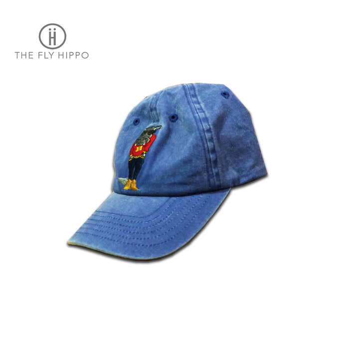 The Fly Hippo Washed Blue Cap Hat