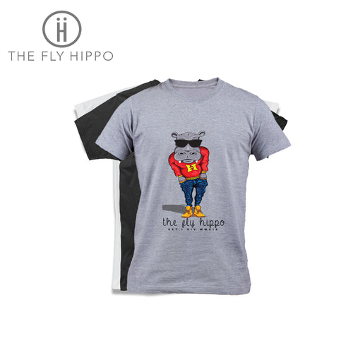 The Fly Hippo Signature Grey T-Shirt