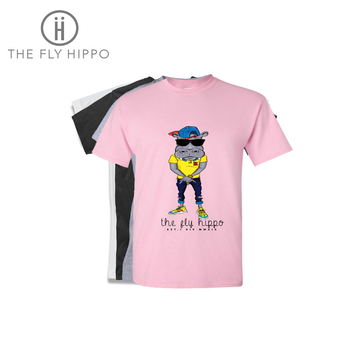 The Fly Hippo Pink Signature T-Shirt