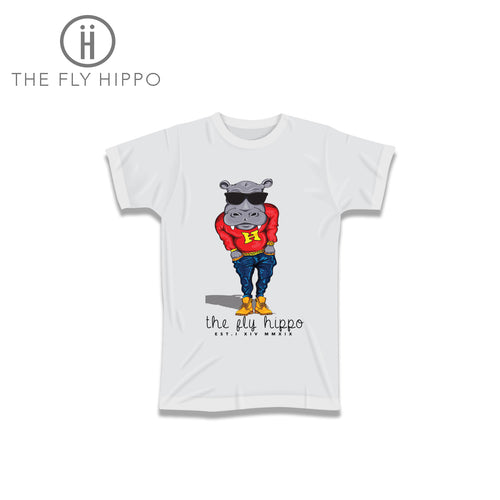 The Fly Hippo White Signature T-Shirt