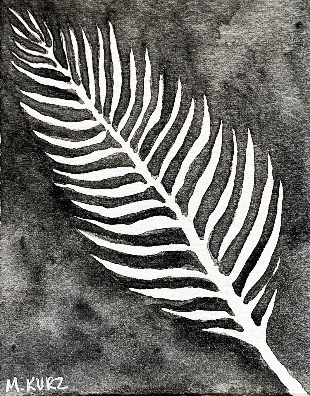 Palm Leaf Negative