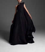 Asymmetrical Faille Gown