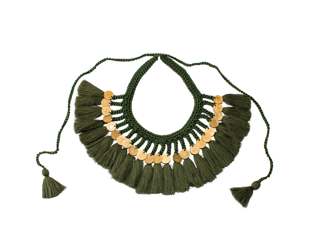 Daniela Bustos | Escamas y Plumas Necklace