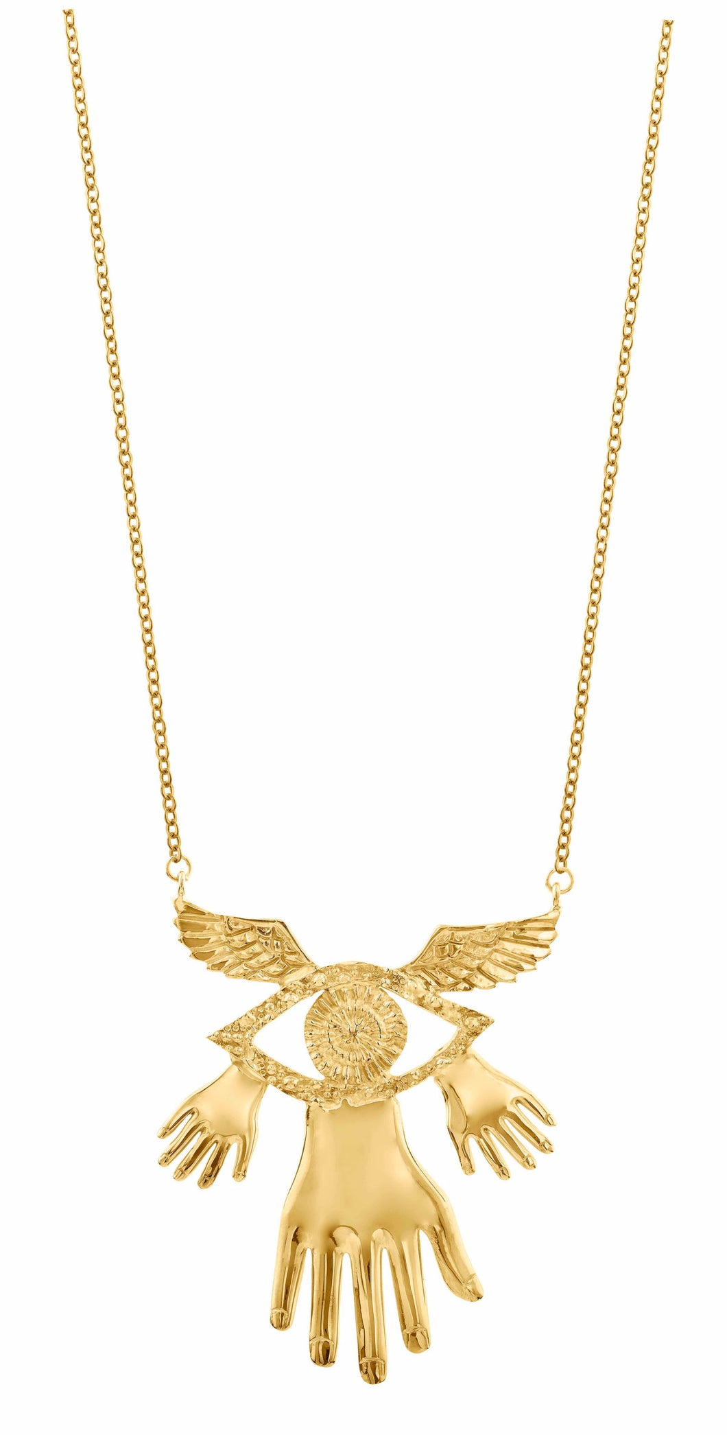 Sophie Simone | Hand Wings Eye Necklace