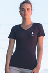 Ladies Stretch V Neck T-Shirt