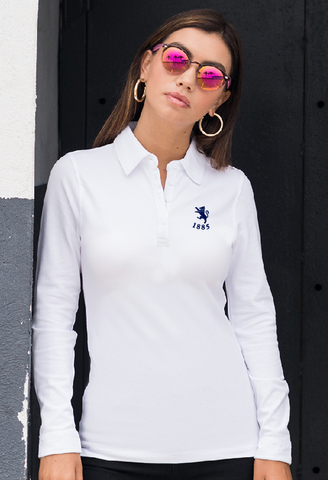 Ladies Long Sleeve Cotton Polo