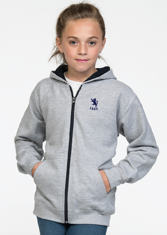 Kids Zipped Contrast Hoody