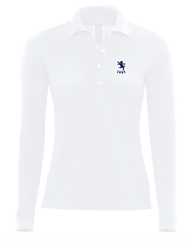 Ladies Fit Long Sleeve Cotton Polo - ONE OFF